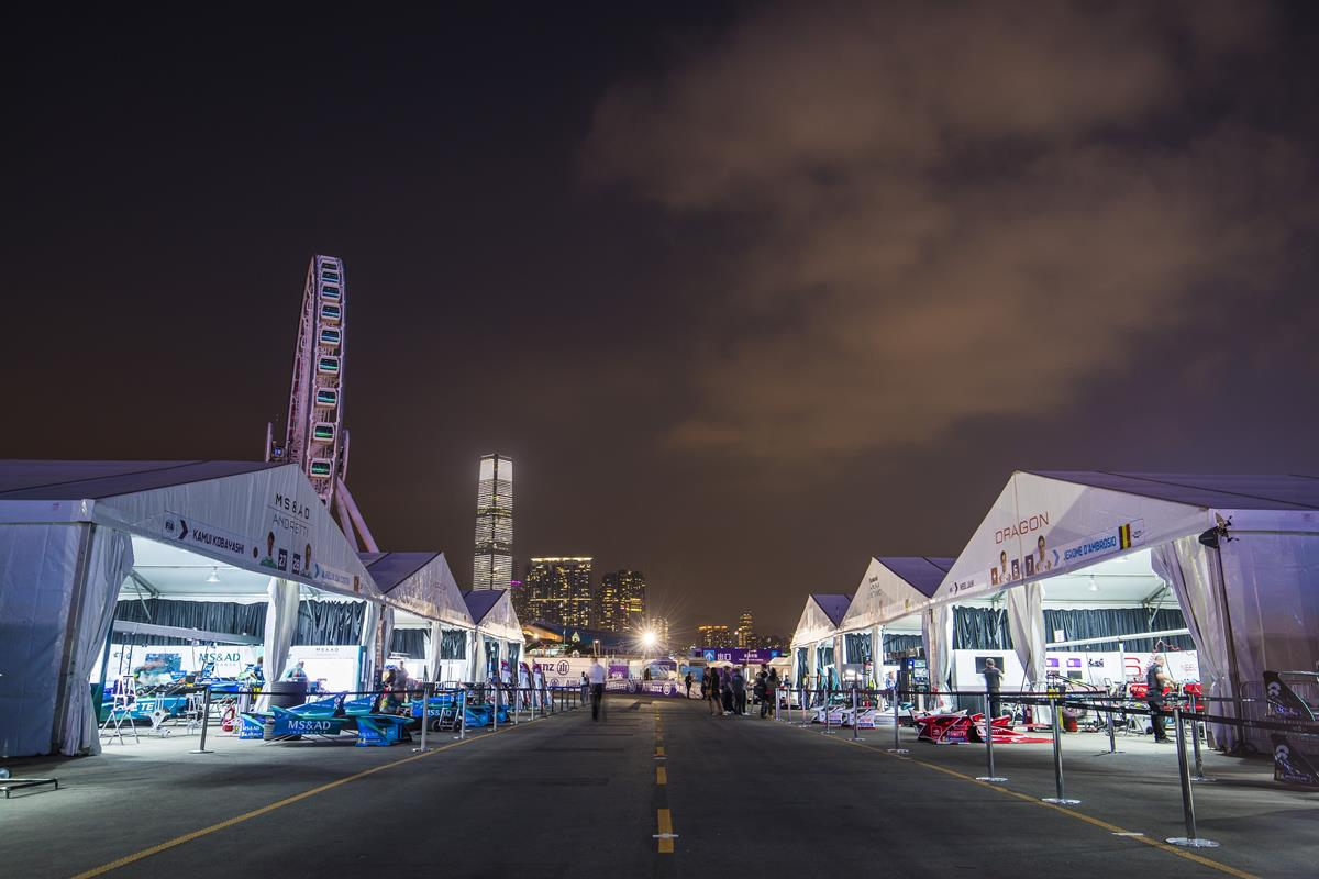 Hongkong-Formula-E-Paddock-Pitlane-by-Night