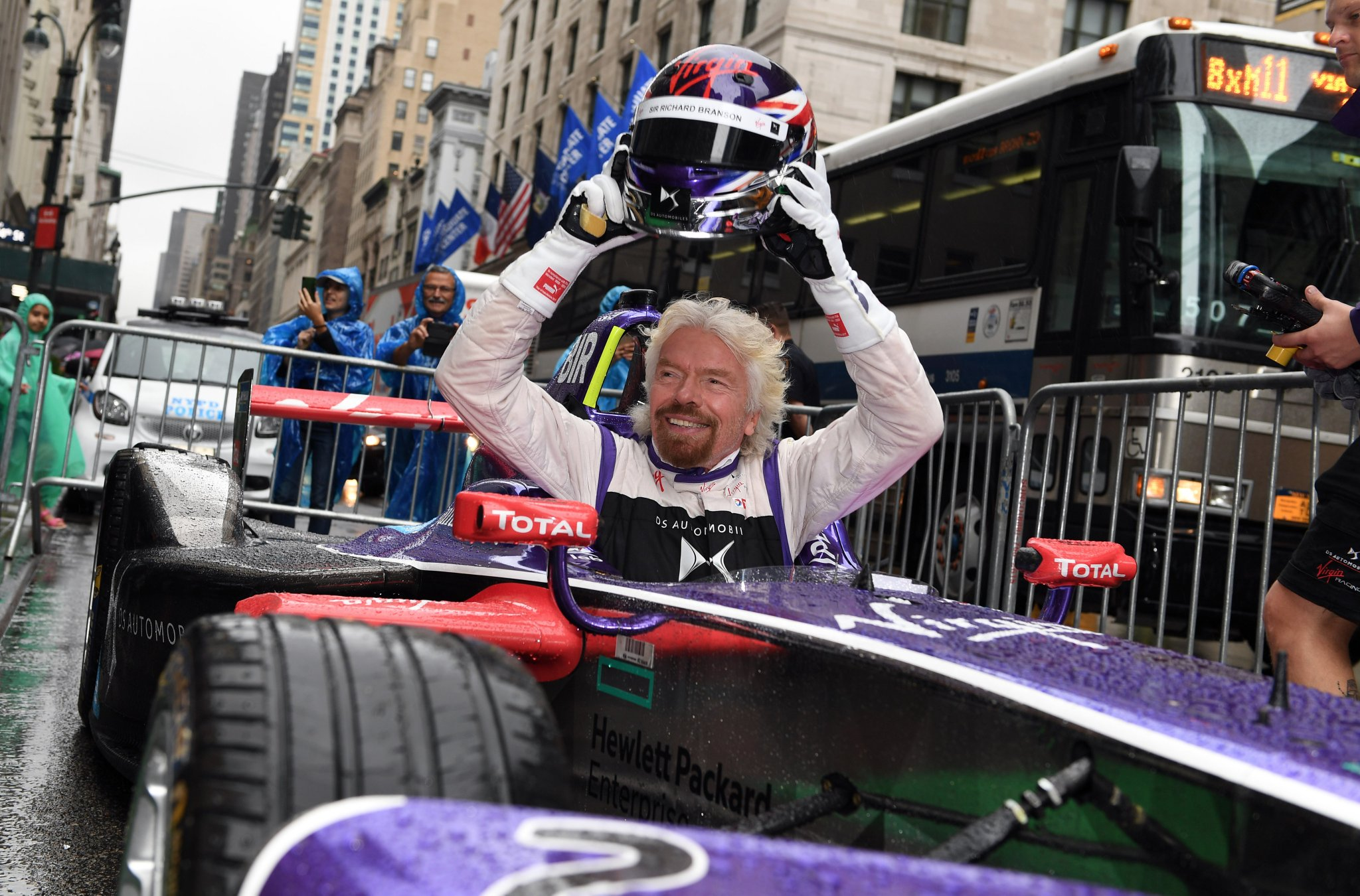 Richard-Branson-gets-out-of-Virgin-Formula-E-Car-New-York