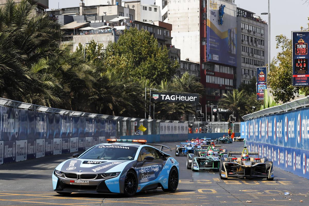 Formula-E-Cars-follow-Safety-Car-in-Santiago