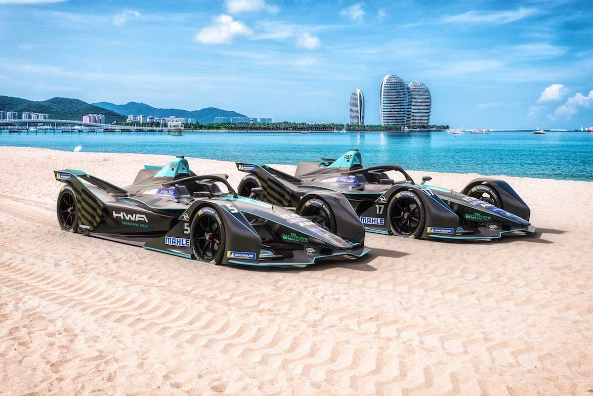 HWA-Formula-E-Cars-on-Sand-of-Sanya