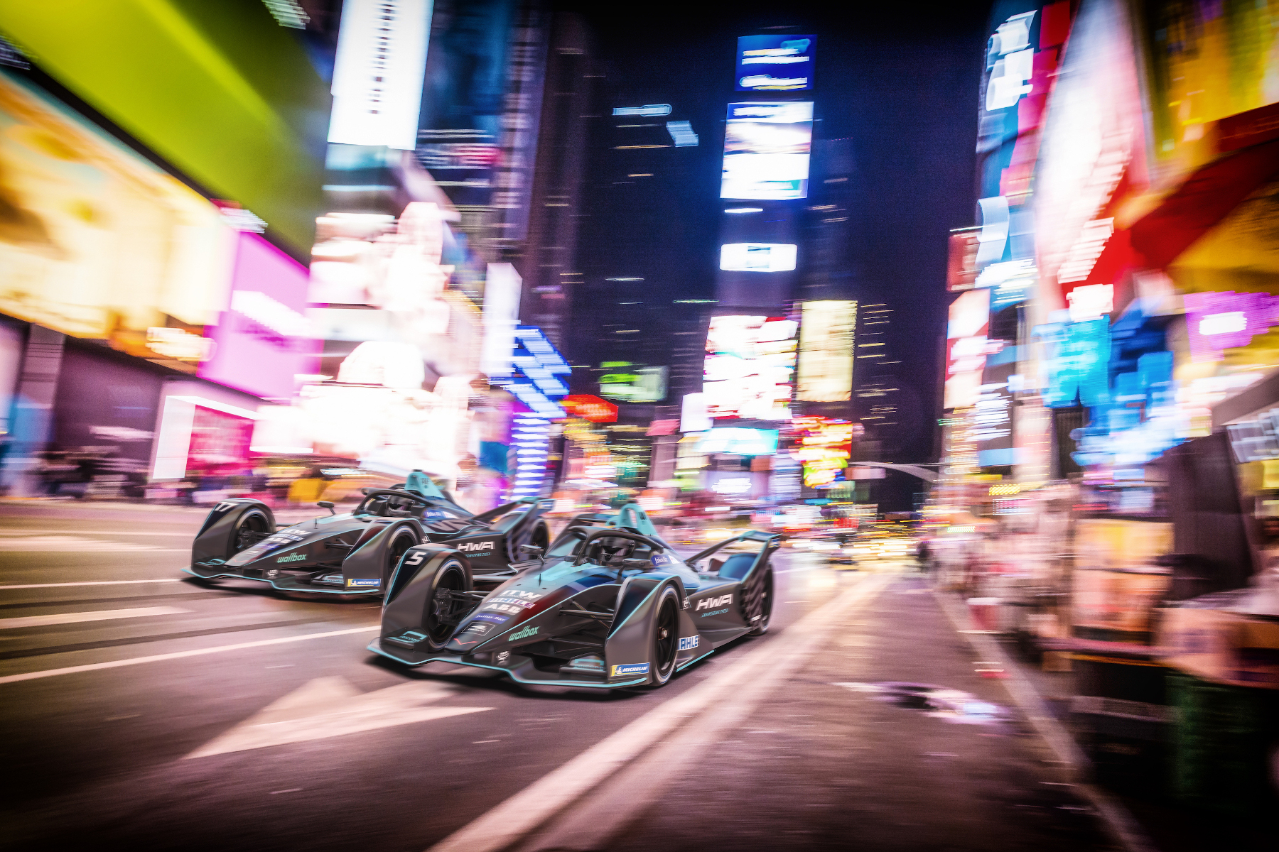 HWA-Formula-E-Cars-New-York-Timesquare