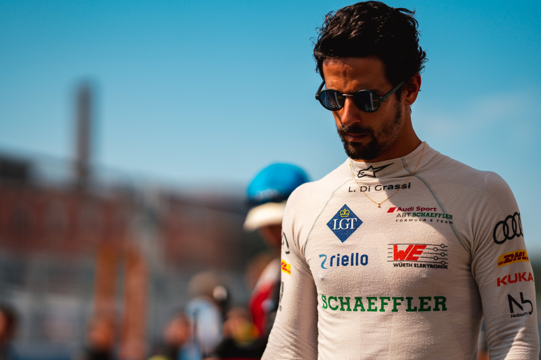 Lucas di Grassi New York City Sunglasses Head Down Overall opened