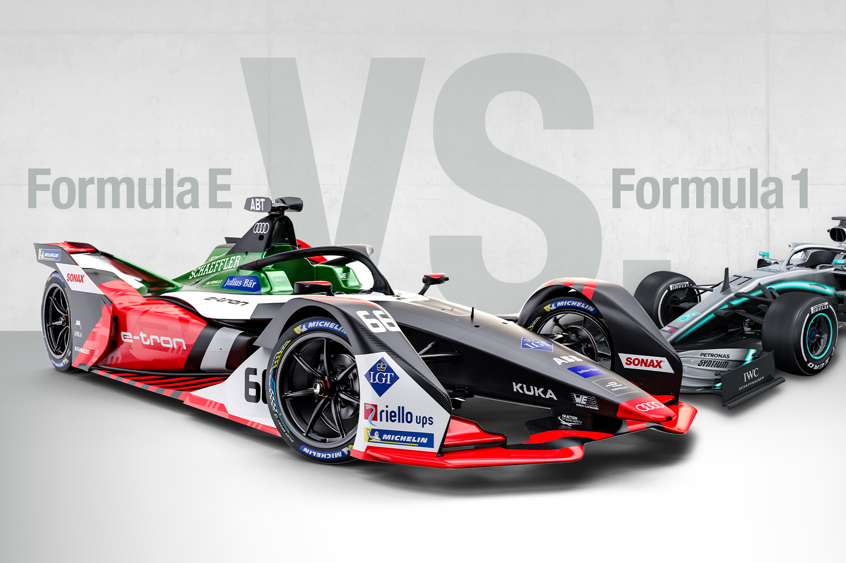 Audi-Formula-E-Car-vs-Mercedes-F1-Car