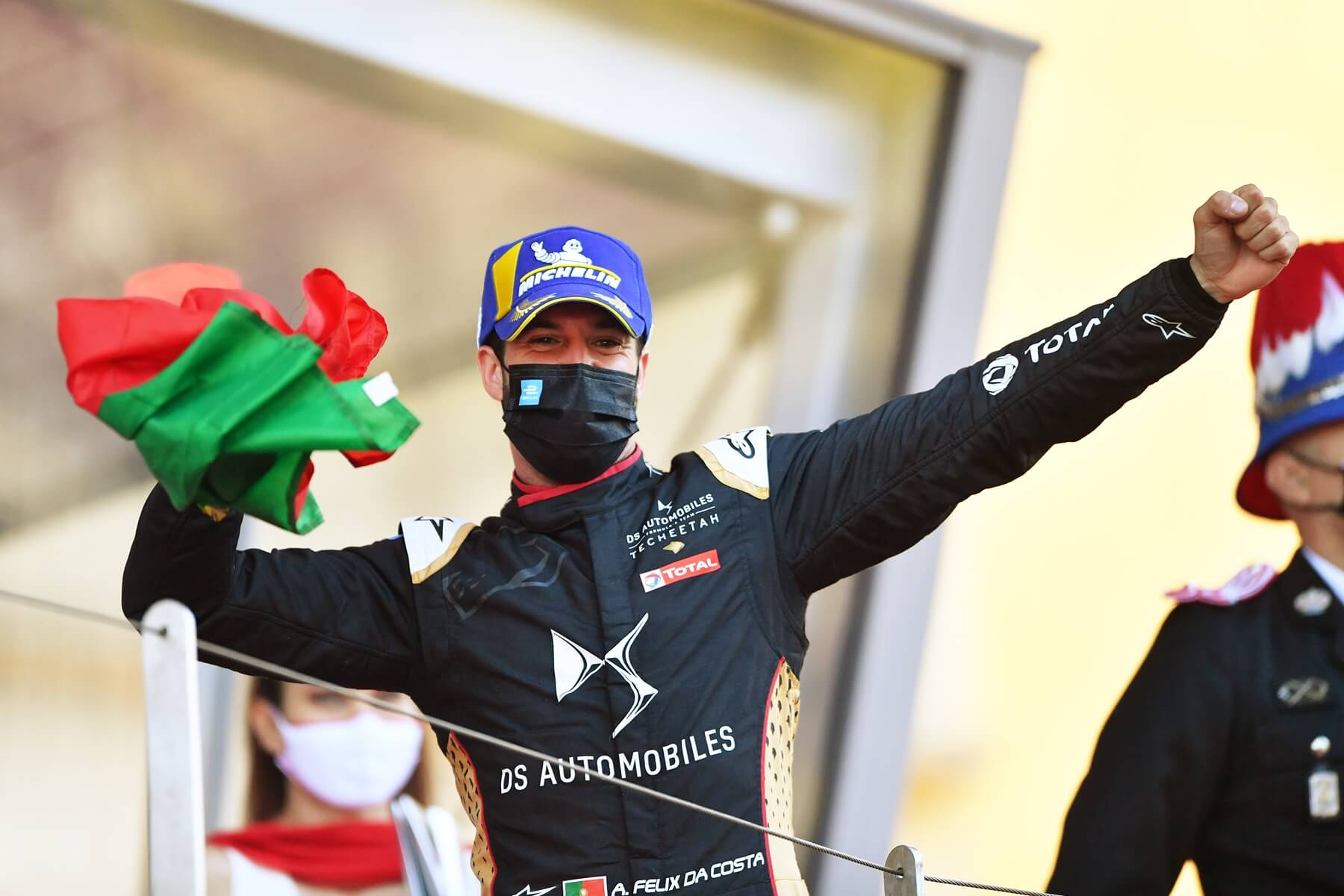 Felix-da-Costa-Mask-Monaco-Celebration